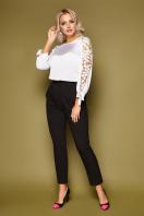 черная блузка с розами. блуза Флавия 3/4. Цвет: белый цена