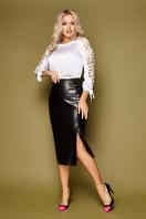 черная блузка с розами. блуза Флавия 3/4. Цвет: белый в интернет-магазине