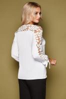черная блузка с розами. блуза Флавия 3/4. Цвет: белый в Украине