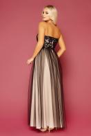 пышное платье с открытыми плечами. платье Макария б/р. Цвет: черный-бежевый в интернет-магазине