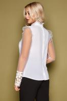 блузка черного цвета с прозрачными рукавами. блуза Соломея д/р. Цвет: белый в Украине