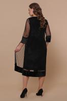 черное платье для полных с накидкой. платье Элеонора-Б б/р. Цвет: черный в Украине