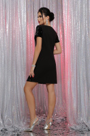 черное платье с пайетками. Платье Ираида к/р. Цвет: черный-черный в интернет-магазине