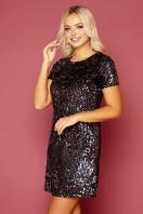 золотистое мини платье. платье Ираида к/р. Цвет: черный-сирень купить