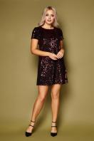 золотистое мини платье. платье Ираида к/р. Цвет: черный-бордо купить