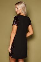 золотистое мини платье. платье Ираида к/р. Цвет: черный-бордо цена