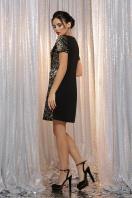 золотистое мини платье. платье Ираида к/р. Цвет: черный-золото в интернет-магазине