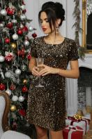 золотистое мини платье. платье Ираида к/р. Цвет: черный-золото в Украине