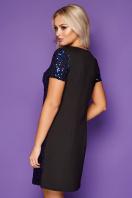 золотистое мини платье. платье Ираида к/р. Цвет: черный-электрик цена