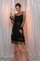 черное платье с сеткой. платье Мариям д/р. Цвет: черный цена