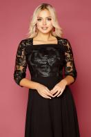 кружевное платье батал. платье Тифани Б д/р. Цвет: черный цена