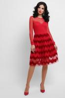платье цвета электрик с сеткой. платье Алина д/р. Цвет: красный купить