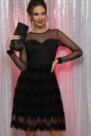 платье цвета электрик с сеткой. платье Алина д/р. Цвет: черный купить