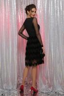 платье цвета электрик с сеткой. платье Алина д/р. Цвет: черный в интернет-магазине