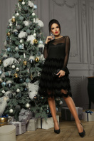 платье цвета электрик с сеткой. платье Алина д/р. Цвет: черный в Украине