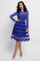 платье цвета электрик с сеткой. платье Алина д/р. Цвет: электрик купить