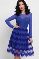 платье цвета электрик с сеткой. платье Алина д/р. Цвет: электрик в интернет-магазине