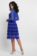 платье цвета электрик с сеткой. платье Алина д/р. Цвет: электрик в Украине