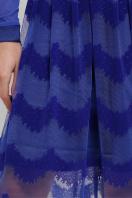 платье цвета электрик с сеткой. платье Алина д/р. Цвет: электрик недорого