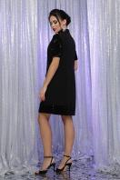 платье трапеция с пайетками. платье Бетти к/р. Цвет: черный-черный цена