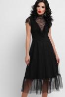 кружевное черное платье. платье Эрмина б/р. Цвет: черный купить