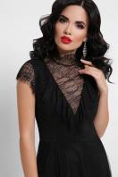 кружевное черное платье. платье Эрмина б/р. Цвет: черный цена
