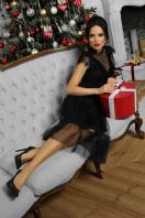 кружевное черное платье. платье Эрмина б/р. Цвет: черный недорого