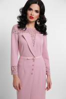 лиловое платье с кружевом. платье Леония д/р. Цвет: лиловый в интернет-магазине