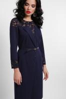 лиловое платье с кружевом. платье Леония д/р. Цвет: синий купить