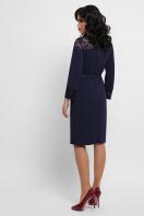 лиловое платье с кружевом. платье Леония д/р. Цвет: синий в интернет-магазине