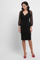 красное платье с ажурными рукавами. платье Флоренция д/р. Цвет: черный 1 купить