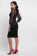 коктейльное черное платье. платье Флоренция д/р. Цвет: черный 1 цена
