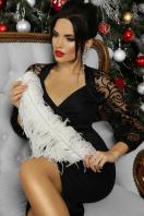 красное платье с ажурными рукавами. платье Флоренция д/р. Цвет: черный 1 в Украине