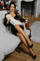 красное платье с ажурными рукавами. платье Флоренция д/р. Цвет: черный 1 недорого
