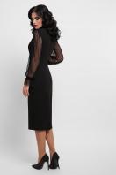 красное платье футляр. платье Лукьяна д/р. Цвет: черный в интернет-магазине