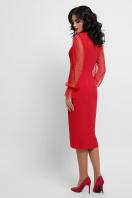 красное платье футляр. платье Лукьяна д/р. Цвет: красный в интернет-магазине
