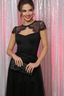 черное платье с кружевом. платье Флориана к/р. Цвет: черный цена