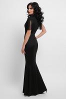 платье годе с бахромой. платье Альфия б/р. Цвет: черный цена