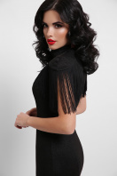 платье годе с бахромой. платье Альфия б/р. Цвет: черный в интернет-магазине