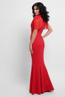 платье годе с бахромой. Платье Альфия б/р. Цвет: красный в интернет-магазине