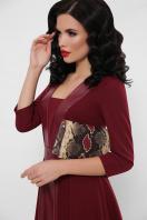 черное платье с кожаными вставками. платье Вилора д/р. Цвет: бордо цена
