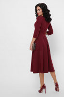черное платье с кожаными вставками. платье Вилора д/р. Цвет: бордо в интернет-магазине