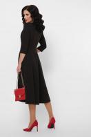 черное платье с кожаными вставками. платье Вилора д/р. Цвет: черный в интернет-магазине