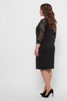 черное кожаное платье для полных. платье Меган-Б д/р. Цвет: черный в интернет-магазине