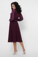 синее платье из креп-шифона. платье Аля д/р. Цвет: сливовый цена
