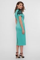 кружевное атласное платье. платье Дафния к/р. Цвет: св. зеленый в интернет-магазине