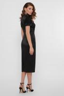 кружевное атласное платье. платье Дафния к/р. Цвет: черный в интернет-магазине