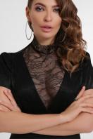 кружевное атласное платье. платье Дафния к/р. Цвет: черный в Украине