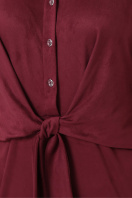 бордовое платье из замши. платье Мерида д/р. Цвет: бордо в Украине