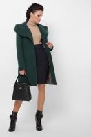 зимнее черное пальто. Пальто П-311 з. Цвет: 7214-зеленый купить